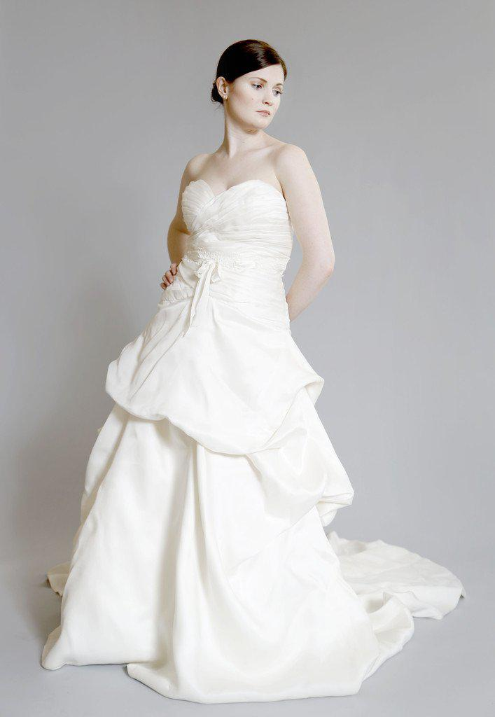Monique Lhuillier 'Yelena' Silk Dress - Monique Lhuillier - Nearly Newlywed Bridal Boutique - 1