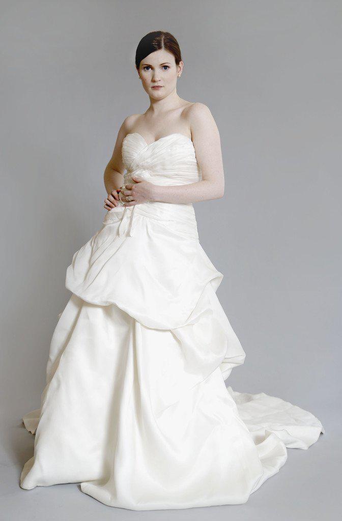 Monique Lhuillier 'Yelena' Silk Dress - Monique Lhuillier - Nearly Newlywed Bridal Boutique - 2