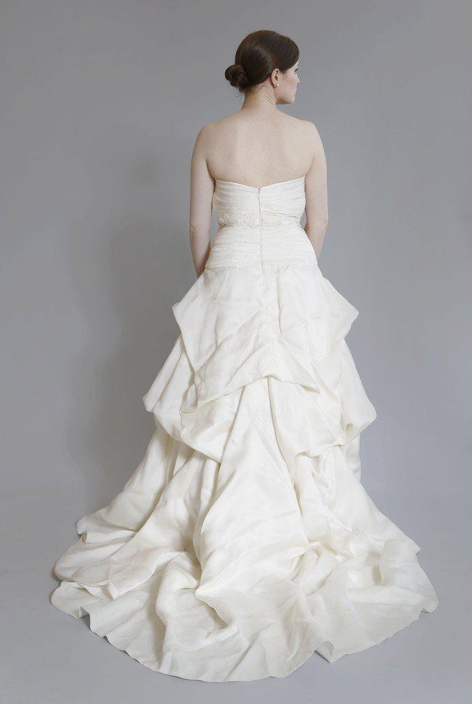 Monique Lhuillier 'Yelena' Silk Dress - Monique Lhuillier - Nearly Newlywed Bridal Boutique - 4