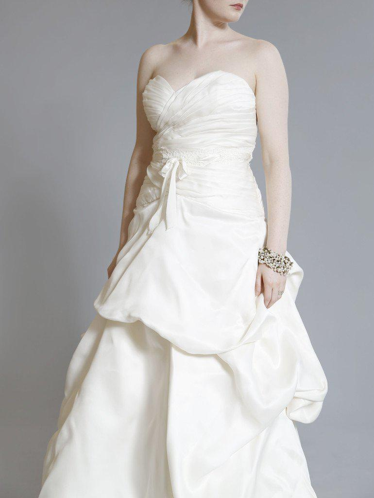 Monique Lhuillier 'Yelena' Silk Dress - Monique Lhuillier - Nearly Newlywed Bridal Boutique - 5