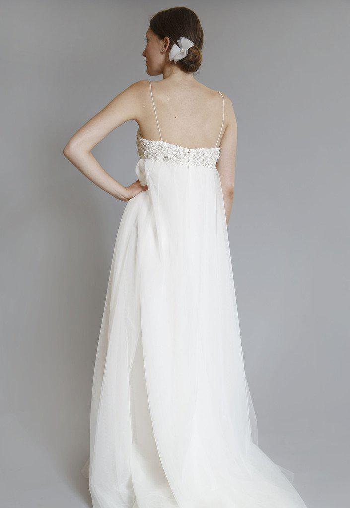 Amsale 'Juliette' Ivory Tulle Gown - Amsale - Nearly Newlywed Bridal Boutique - 3