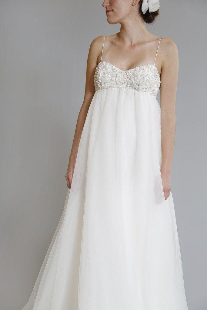Amsale 'Juliette' Ivory Tulle Gown - Amsale - Nearly Newlywed Bridal Boutique - 4