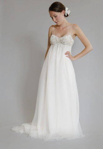 Amsale 'Juliette' Ivory Tulle Gown