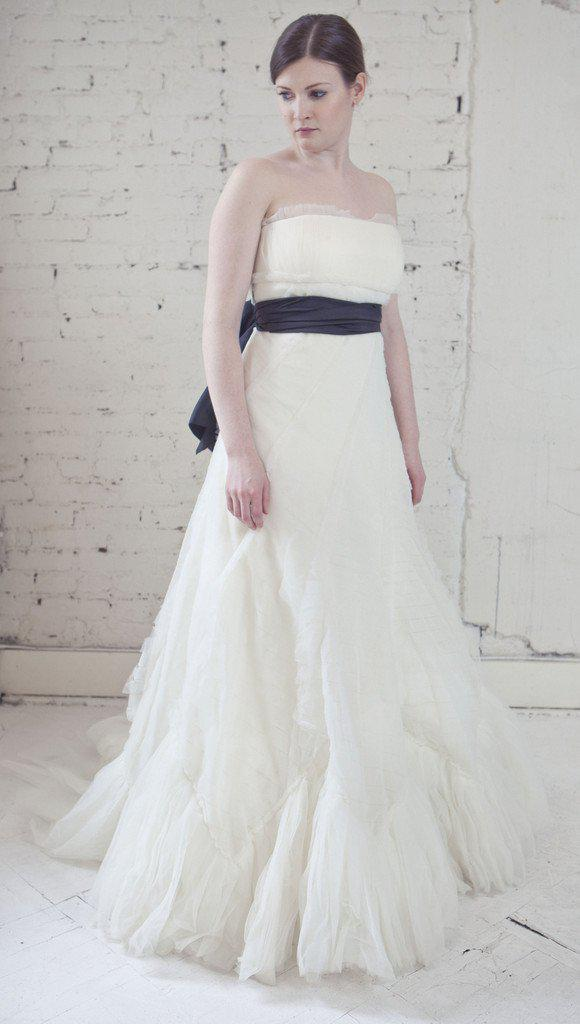Vera Wang Luxe Pleated French Tulle Gown - Vera Wang - Nearly Newlywed Bridal Boutique - 2