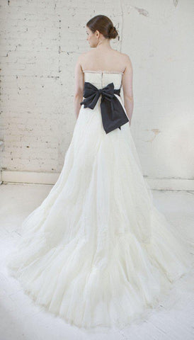Vera Wang Luxe Pleated French Tulle Gown