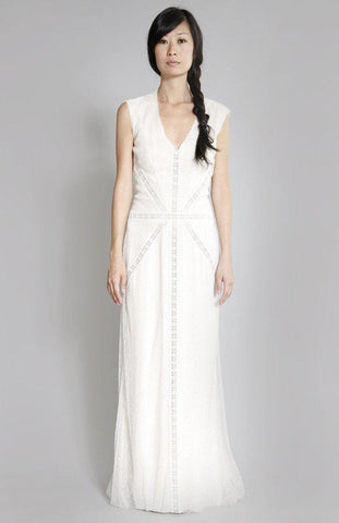 Caroline Seikaly 'Joanna' French Lace Gown