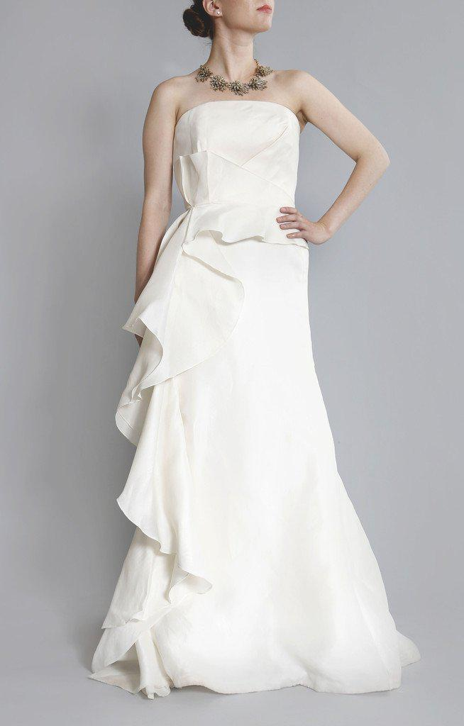 Angel Sanchez 'Adrianna' Silk Organza Gown - Angel Sanchez - Nearly Newlywed Bridal Boutique - 1