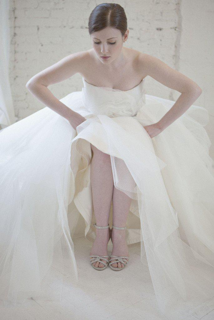 Marchesa Tulle Rosette Princess Gown - Marchesa - Nearly Newlywed Bridal Boutique - 3
