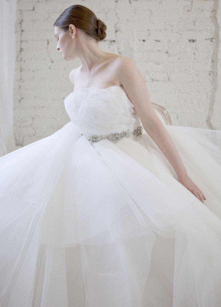 Marchesa Tulle Rosette Princess Gown - Marchesa - Nearly Newlywed Bridal Boutique - 4