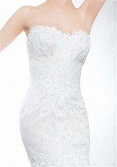 Matthew Christopher 'Sophia' size 6 new wedding dress front view close up on model