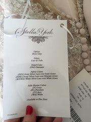 Stella York sparkling silver lace