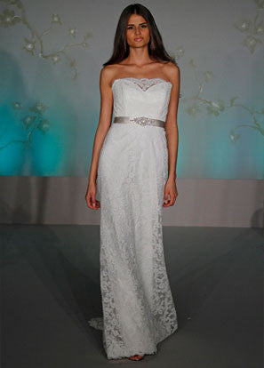 Tara Keely '2053' Lace Strapless Gown