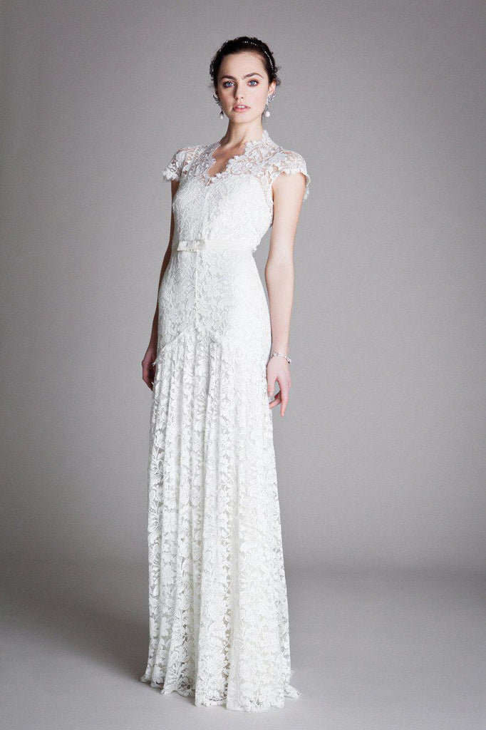 Temperley London Sleeved Amoret Wedding Gown - Temperley London - Nearly Newlywed Bridal Boutique - 2