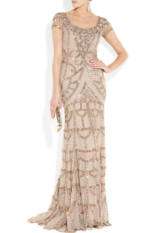Temperley London Pale Pink Poison Embellished Tulle Gown