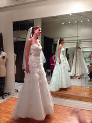 Tara Keely Style 2106 with floral embellishments - Tara Keely - Nearly Newlywed Bridal Boutique - 9