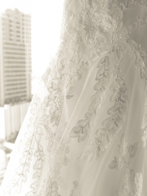 Allure Ivory Fit & Flare Lace Wedding Dress - Allure - Nearly Newlywed Bridal Boutique - 3