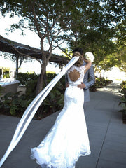 Allure Ivory Fit & Flare Lace Wedding Dress - Allure - Nearly Newlywed Bridal Boutique - 2