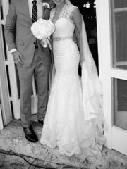 Allure Ivory Fit & Flare Lace Wedding Dress - Allure - Nearly Newlywed Bridal Boutique - 1