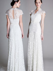 Temperley London Sleeved Amoret Wedding Gown - Temperley London - Nearly Newlywed Bridal Boutique - 1