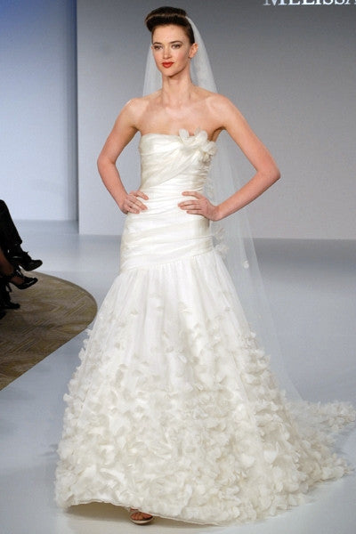 Melissa Sweet 'Uma' Silk Organza Petal Gown - Melissa Sweet - Nearly Newlywed Bridal Boutique - 4