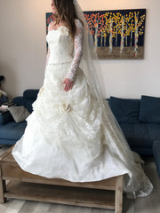 Atelier Aimee 'Alta Moda Saposa' size 0 new wedding dress front view on bride