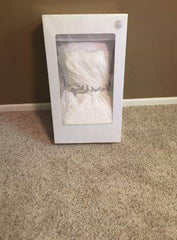 Vera Wang White 'Strapless Chiffon' size 12 used wedding dress in box