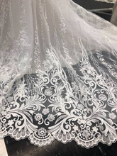 Load image into Gallery viewer, Mon Cheri Bridal 'Eden' size 10 used wedding dress view of train