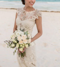 Load image into Gallery viewer, Claire Pettibone 'Viola' size 2 used wedding dress front view on bride