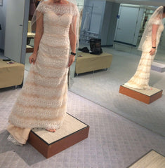 Alfred Angelo '894' size 10 sample wedding dress side view on bride