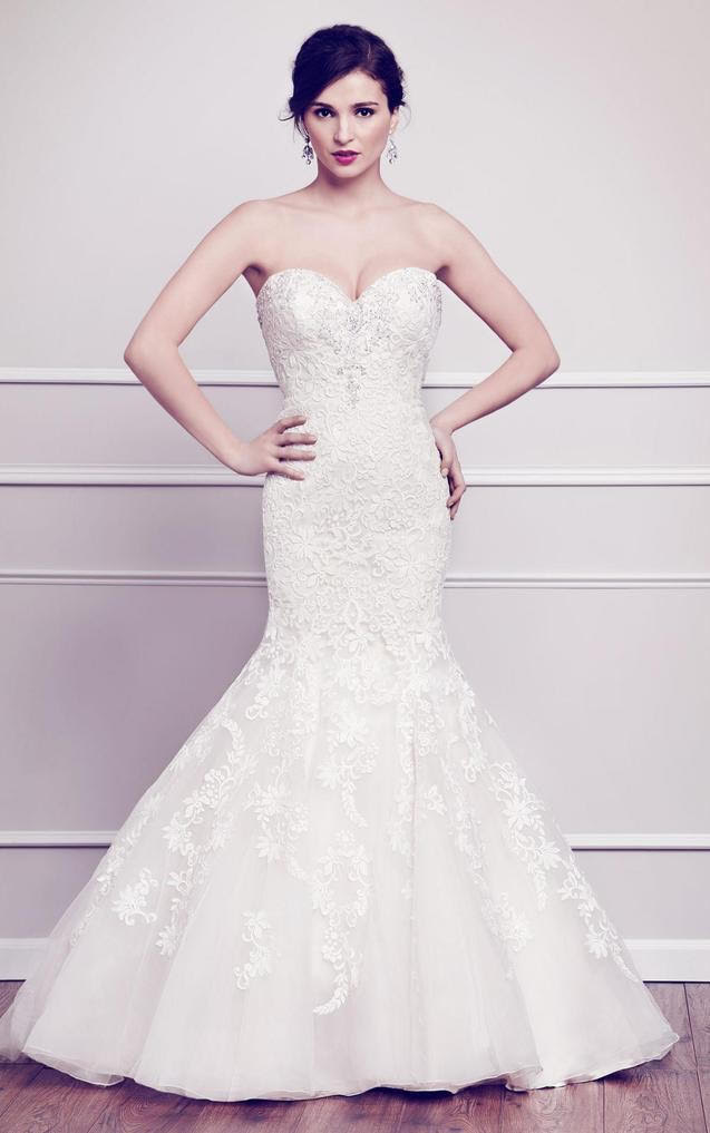 Kenneth Winston '1564' size 4 new wedding dress front view on model