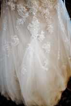 Load image into Gallery viewer, Sophia Tolli 'Prinia' size 18 used wedding dress view of trim