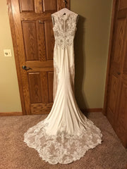 Sottero and Midgley 'Bradford' size 8 new wedding dress back view on hanger