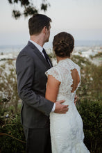 Load image into Gallery viewer, Allure Bridals 'G223-2455' size 2 used wedding dress back view on bride