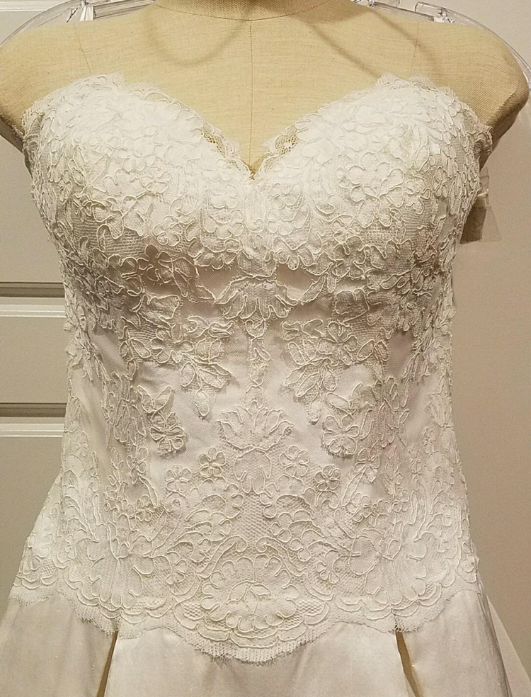 Simply Classic 'Lace and Silk' - Simply classic - Nearly Newlywed Bridal Boutique - 1