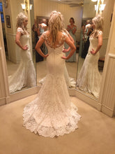 Load image into Gallery viewer, Romona Keveza 'L5101' size 2 used wedding dress back view on bride