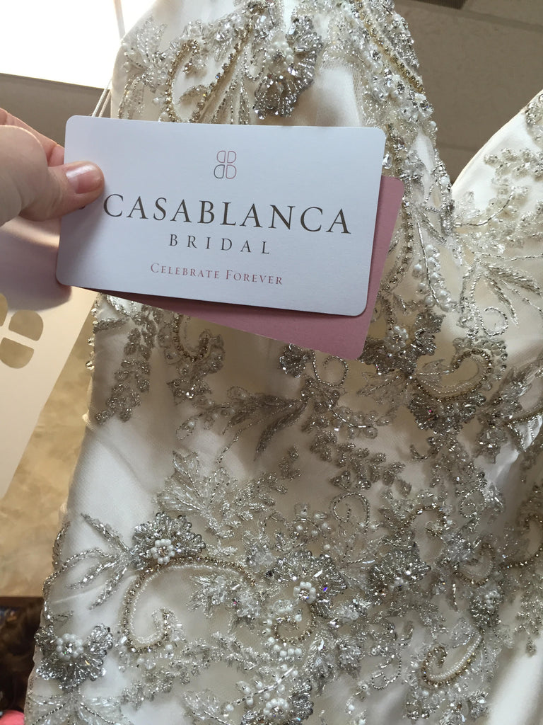 Casablanca '2202' size 2 new wedding dress view of tag