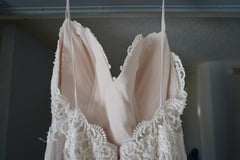 Chic Nostalgia 'Lennox' size 8 used wedding dress back view on hanger