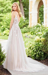 Mon Cherie 'Enchanting' size 2 used wedding dress back view on model