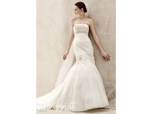 Oleg Cassini 'CWG377' size 14 new wedding dress front view on model