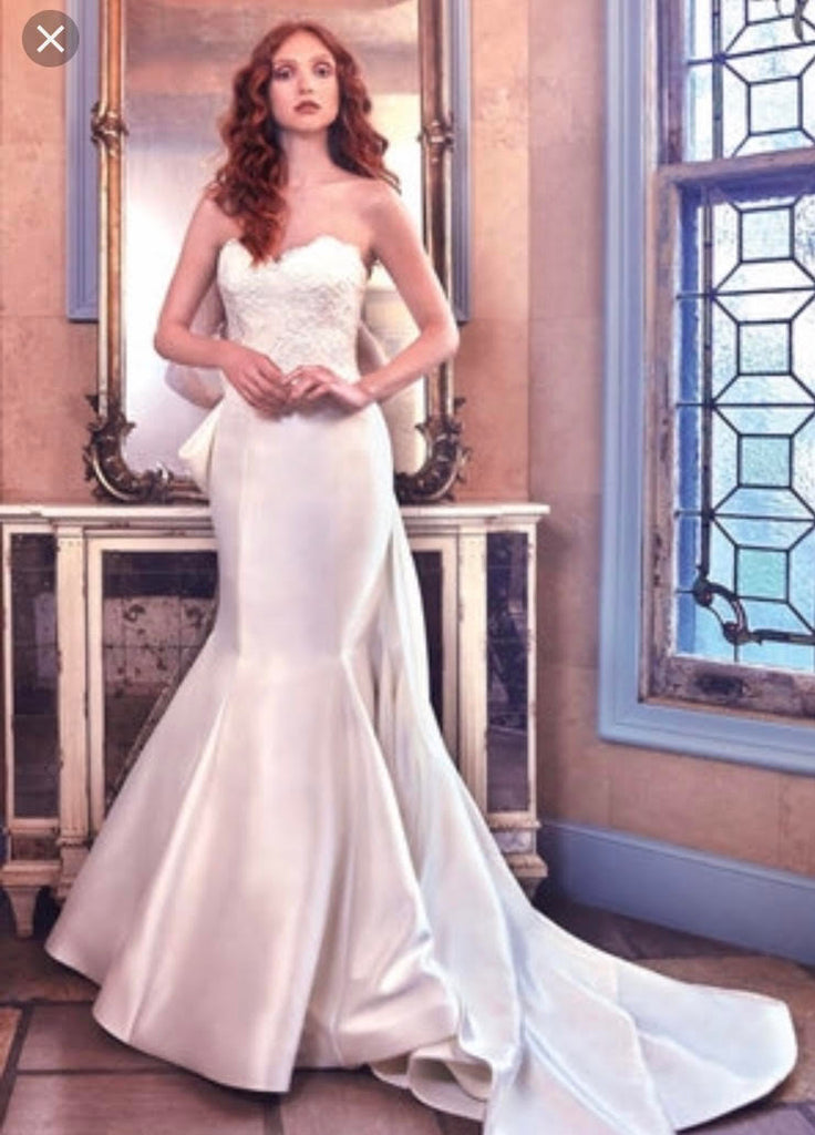 Sareh Nouri 'Paulina' size 2 used wedding dress front view on model