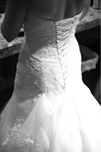 Load image into Gallery viewer, Alfred Angelo '2438' size 4 used wedding dress back view on bride