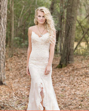 Load image into Gallery viewer, Lillian West '6450' size 8 used wedding dress front view on model