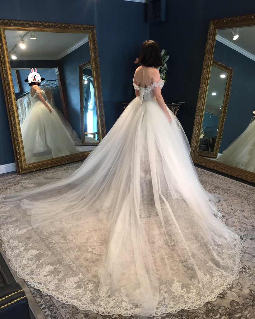 Galia Lahav 'Cinderella' size 0 used wedding dress back view on bride