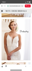Mon Cheri Bridal 'Enchanting' size 12 new wedding dress front view on model