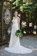 Load image into Gallery viewer, Allure '9363' size 2 used wedding dress front view on bride