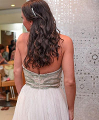 Hayley Paige 'Dani' size 12 used wedding dress back view on bride