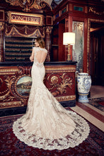 Load image into Gallery viewer, Eddy K '1131' size 4 used wedding dress back view on model
