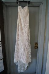 Chic Nostalgia 'Lennox' size 8 used wedding dress front view on hanger