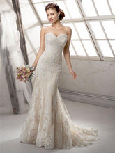 Load image into Gallery viewer, Maggie Sottero 'Viera' size 10 used wedding dress front view on model