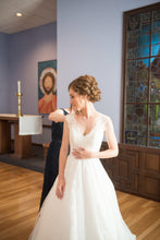 Load image into Gallery viewer, Allure Bridals '9470' size 00 used wedding dress front view on bride